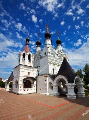 Troitskaya church at Troitskiy monastery at Murom in summer. Russia