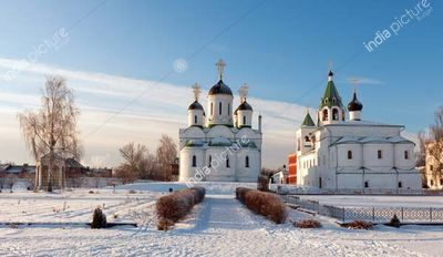 Spasskiy monastery at Murom in wintry day. Russia