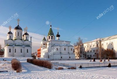 Spasskiy monastery at Murom in winter day. Russia