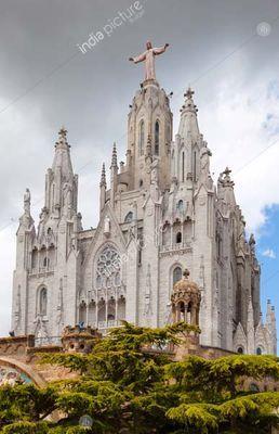Temple Expiatori del Sagrat Cor in Barcelona, Spain