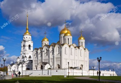 Assumption cathedral at Vladimir in autumn, Russia (1158-1160)