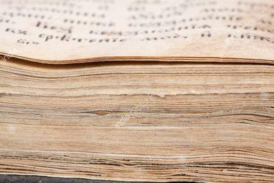 Closeup of pages of ancient bible book