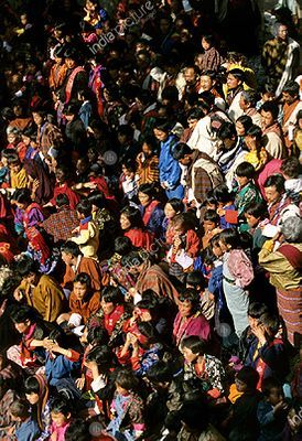 People during a festival , Bhutan