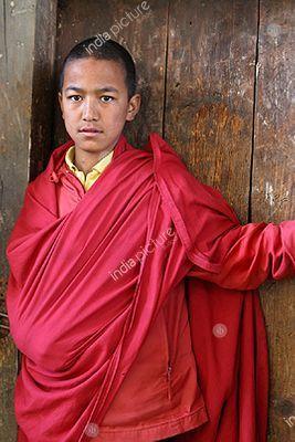 Child monk , Bhutan