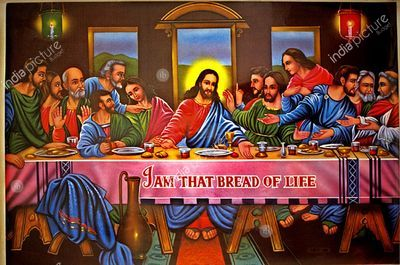 Poster of the Last Supper, India