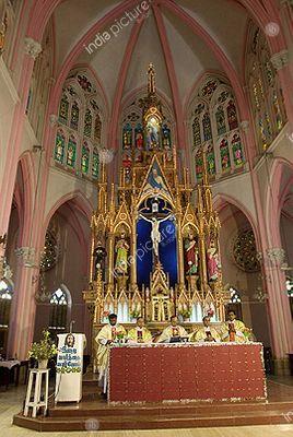 Saint Joseph's Church ,  a hundred year old Church ,  Tiruchirapalli ,  Tamil Nadu ,  India